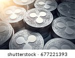 Ripple Coins  Xrp  In Blurry...