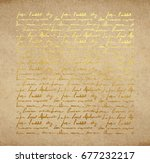 vintage old paper texture with... | Shutterstock .eps vector #677232217