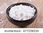 Tapioca Flour Into A Bowl Over...