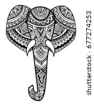 stylized head of an elephant.... | Shutterstock .eps vector #677274253