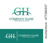 business of g and h initial... | Shutterstock .eps vector #677280337