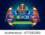 vector of american football... | Shutterstock .eps vector #677282383
