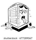 sick overheated air... | Shutterstock .eps vector #677289067