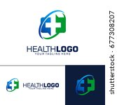square health logo design | Shutterstock .eps vector #677308207