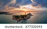 ke ga lighthouse  la gi  binh... | Shutterstock . vector #677320393
