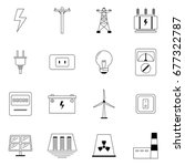Outline Icons  Set Of...