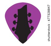 guitar headstock in guitar pick ... | Shutterstock .eps vector #677328847