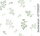 floral seamless pattern texture ... | Shutterstock .eps vector #677350207