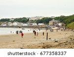 filey yorkshire uk july 24 2015 ... | Shutterstock . vector #677358337