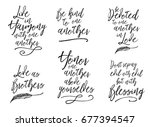 live in harmony with one... | Shutterstock .eps vector #677394547