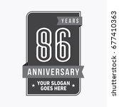 86 years anniversary design...   Shutterstock .eps vector #677410363