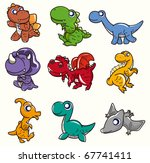 cartoon dinosaur icon | Shutterstock .eps vector #67741411
