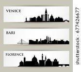 italian cities skylines  ... | Shutterstock .eps vector #677426677