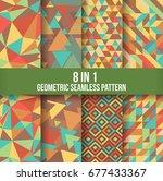 geometric seamless pattern... | Shutterstock .eps vector #677433367