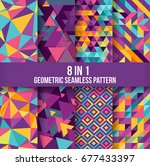 geometric seamless pattern... | Shutterstock .eps vector #677433397