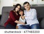 happiness times with family. ... | Shutterstock . vector #677483203