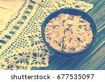 unpolished brown and black rice ... | Shutterstock . vector #677535097