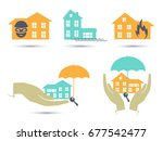 insurance colorful icons set....   Shutterstock .eps vector #677542477