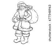 black and white illustration.... | Shutterstock .eps vector #677548963