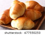 bread japanese butter roll...   Shutterstock . vector #677550253