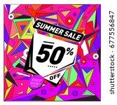 summer sale geometric style web ...   Shutterstock .eps vector #677556847