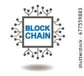 block chain microchip vector... | Shutterstock .eps vector #677559883