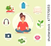 stress prevention vector... | Shutterstock .eps vector #677570053