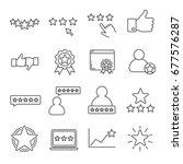 set of rating related vector... | Shutterstock .eps vector #677576287