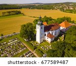 Aerial View Of Church Prusiny ...