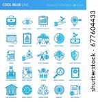 modern thin line icons set of... | Shutterstock .eps vector #677604433