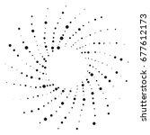 radial geometric element series.... | Shutterstock . vector #677612173