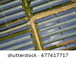 agriculture and solar... | Shutterstock . vector #677617717