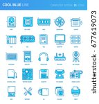 modern thin line icons set of... | Shutterstock .eps vector #677619073