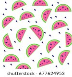cute seamless vector pattern... | Shutterstock .eps vector #677624953