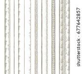 set of borders. vintage design... | Shutterstock .eps vector #677642857