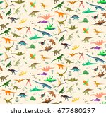 seamless patterns with... | Shutterstock .eps vector #677680297
