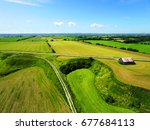 Aerial View Of Rural Area...