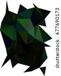 dark green blurry triangle... | Shutterstock . vector #677690173