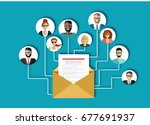 email marketing  internet... | Shutterstock .eps vector #677691937