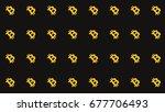 bitcoin diagonal pattern... | Shutterstock . vector #677706493