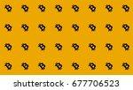 bitcoin diagonal pattern... | Shutterstock . vector #677706523