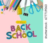 back to school banner design... | Shutterstock .eps vector #677719063