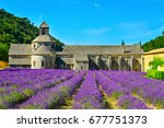 the senanque abbey  provence ...   Shutterstock . vector #677751373