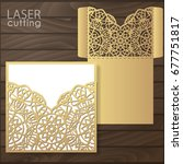 die laser cut wedding card... | Shutterstock .eps vector #677751817