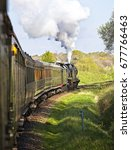 Two Steam Locomotives Double...