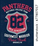 vintage varsity graphics and... | Shutterstock .eps vector #677807017