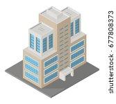 vector modern isometric... | Shutterstock .eps vector #677808373
