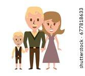 retro family cartoon | Shutterstock .eps vector #677818633