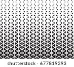 geometric black and white... | Shutterstock .eps vector #677819293