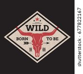 born to be wild tee print with...